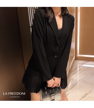 LA Freedom Fashion Wrinkles Suit Dress
