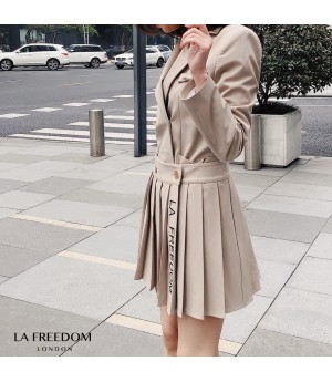 LA Freedom Limited Embroidery Wrinkles Skirt
