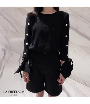LA Freedom Pearl Sleeve Top