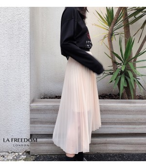 LA Freedom Asymmetry Split Skirt-Apricot