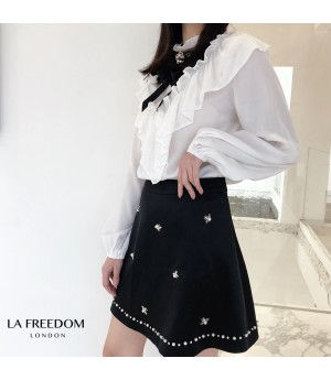 LA Freedom Bow-Knot White Shirt