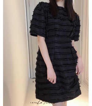 LA Freedom Bubble Sleeve Waist Dress