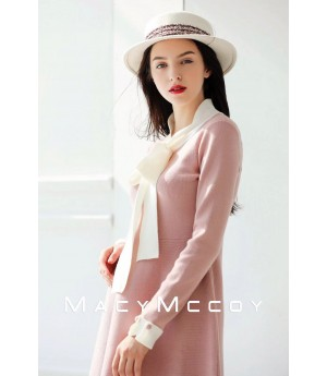 MacyMccoy Bowknot Dress-Pink