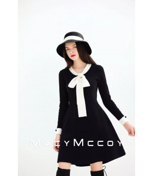 MacyMccoy Bowknot Dress-Black