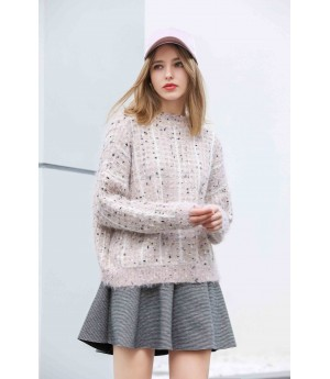 MacyMccoy Flower and sesame sweater-Pink