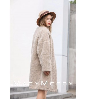 MacyMccoy Wool Coat-Beige