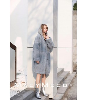 MacyMccoy Wool Coat-Blue