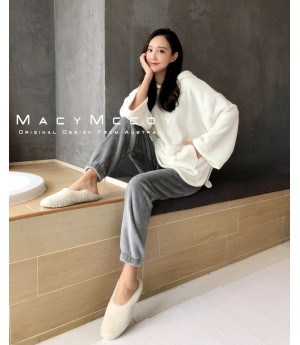 MacyMccoy Rabbit Lounge Suit-White