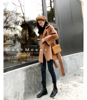 MacyMccoy Cloak Coat-Brown
