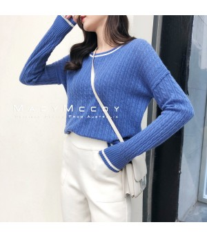 MacyMccoy Cycle Neck Sweater-Blue