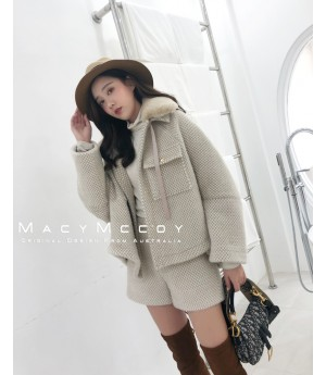 MacyMccoy Mink Suit-Coffee