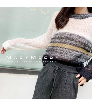 MacyMccoy Translucent Multicolor Sweater-Black