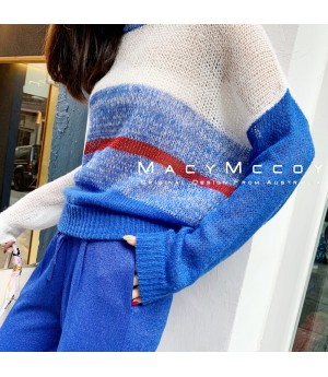 MacyMccoy Translucent Multicolor Sweater-Blue