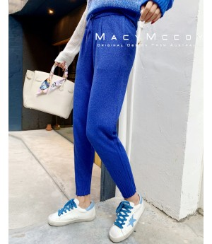 MacyMccoy Knitting Pants-Blue