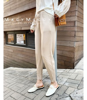 MacyMccoy Knitting Pants-Beige