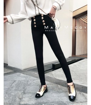 MacyMccoy Gold Button Pants