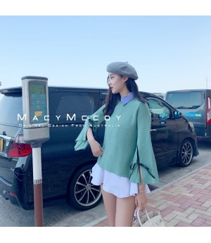 MacyMccoy Shirt&Sweater Two Set-Green