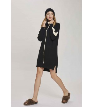 MacyMccoy Black and White Color Turtleneck Sweater Dress