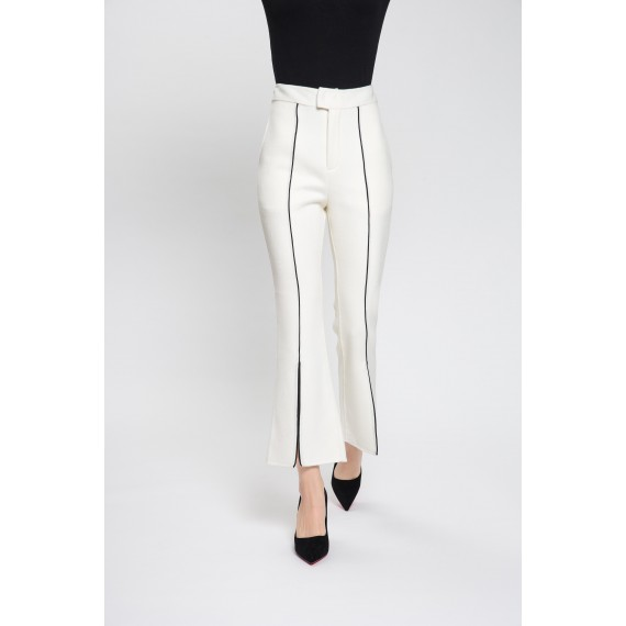 MacyMccoy Split Wool Trousers-White