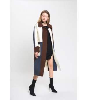 MacyMccoy Long Colored Wool Coat