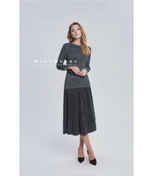 MacyMccoy Bling Pleated skirt-black