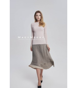 MacyMccoy Bling Pleated skirt-beige