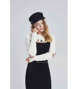MacyMccoy black and white tailoring dress