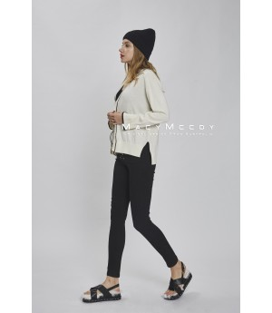 MacyMccoy color knit cardigan-white