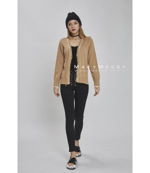 MacyMccoy color knit cardigan-khaki