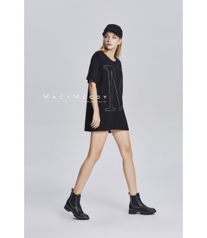 MacyMccoy Black M With Short Sleeves