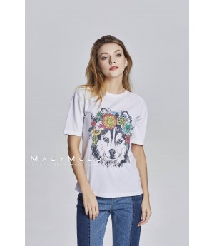 MacyMccoy Wreath Dog Short Sleeves