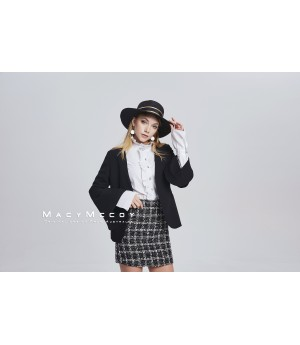 MacyMccoy Trumpet Sleeves Black Suit