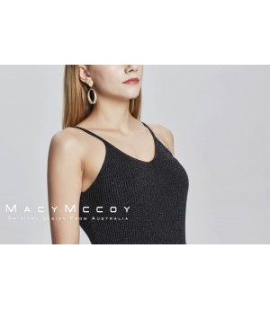 MacyMccoy Bling Knitted sling-black