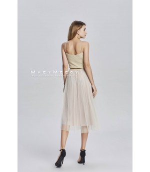MacyMccoy Bling Gilt skirt-beige