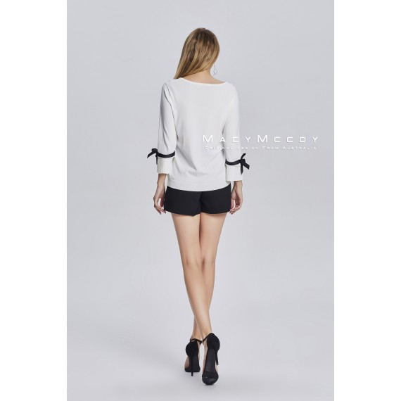 MacyMccoy Black And White Butterfly Coats-White