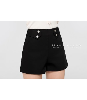 MacyMccoy Black And White Satin Shorts-Black