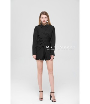 MacyMccoy Black Bandage Shirt
