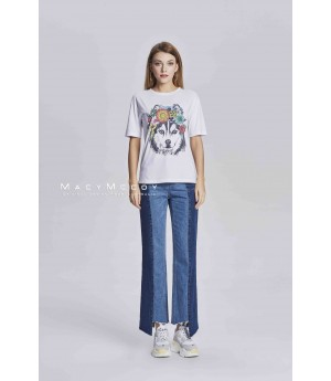 MacyMccoy irregular coloured cowboy trousers