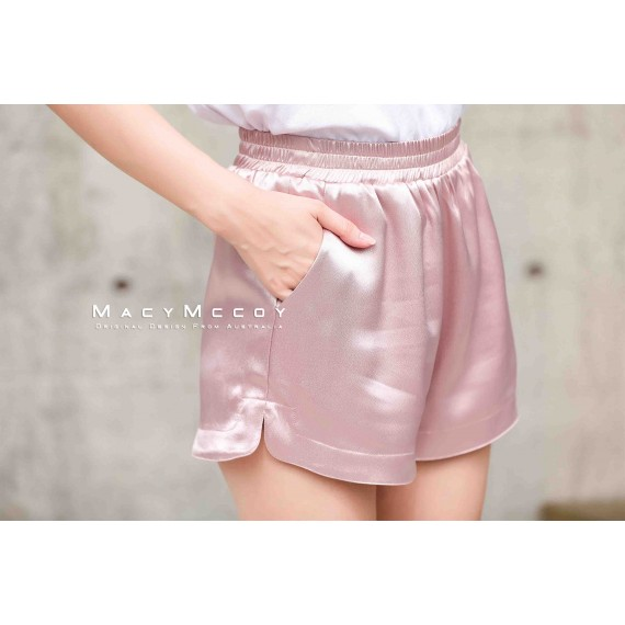 MacyMccoy four colored metal shorts-Pink