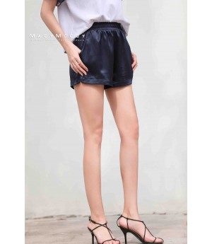 MacyMccoy four colored metal shorts-Navy Blue