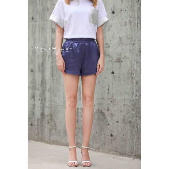 MacyMccoy four colored metal shorts-Violet