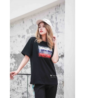 MacyMccoy Sticker short sleeves-Black
