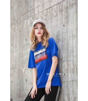 MacyMccoy Sticker short sleeves-Blue