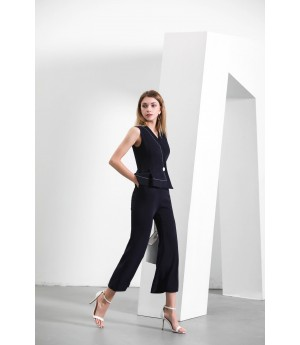 MacyMccoy dark blue sleeveless conjoined trousers