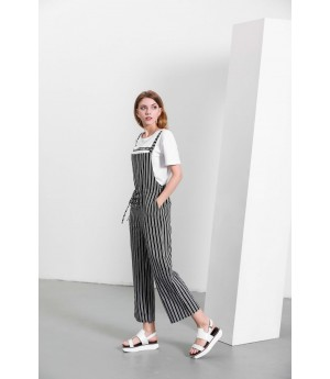 MacyMccoy black and white vertical striped pants
