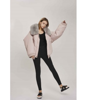 MacyMccoy Short and Irregular Woolen Jacket-Pink