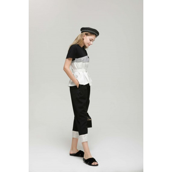 MacyMccoy white flanged trousers