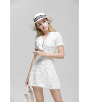 MacyMccoy small fragrance dress-White