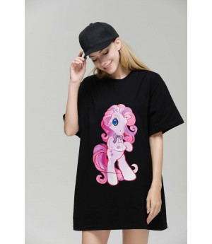 MacyMccoy Little Pony T-shirt-Black