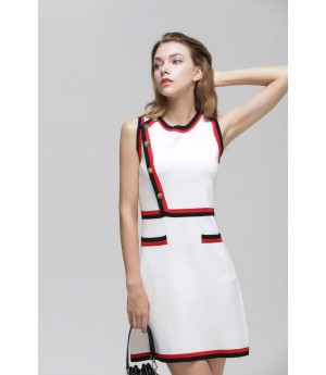 MacyMccoy coloured ice hemp dress-White